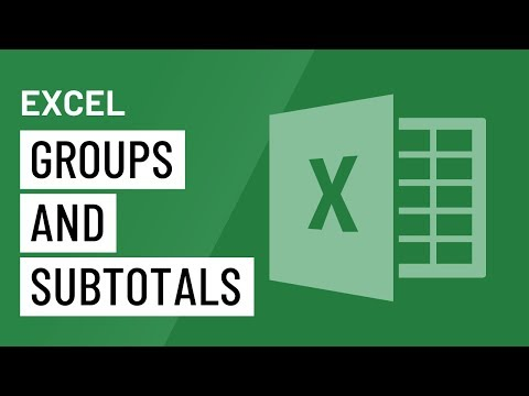 Excel 2016: Groups and Subtotals