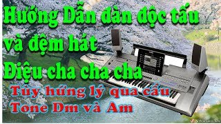 Hướng dẫn độc tấu và đệm hát điệu Cha cha cha:Tùy hứng lý qua cầu Tone Dm và Am