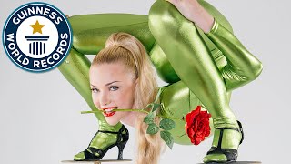 Incredible contortionist sets backbend record  // Guinness World Records Italian Show (Ep 13)