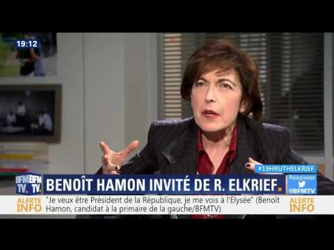 Benoit Hamon invité de Ruth Elkrief