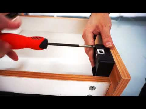 Invisible Hidden RFID CABINET LOCK (installation video)