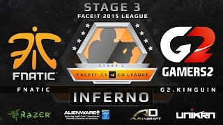 Fnatic vs G2.Kinguin - Inferno (FACEIT League Stage 3 EU)(Play on FACEIT for free: http://www.faceit.com FACEIT on Twitter: http://www.twitter.com/faceit FACEIT on Facebook: https://www.facebook.com/FaceitCommunity ..., 2015-09-17T06:56:54.000Z)