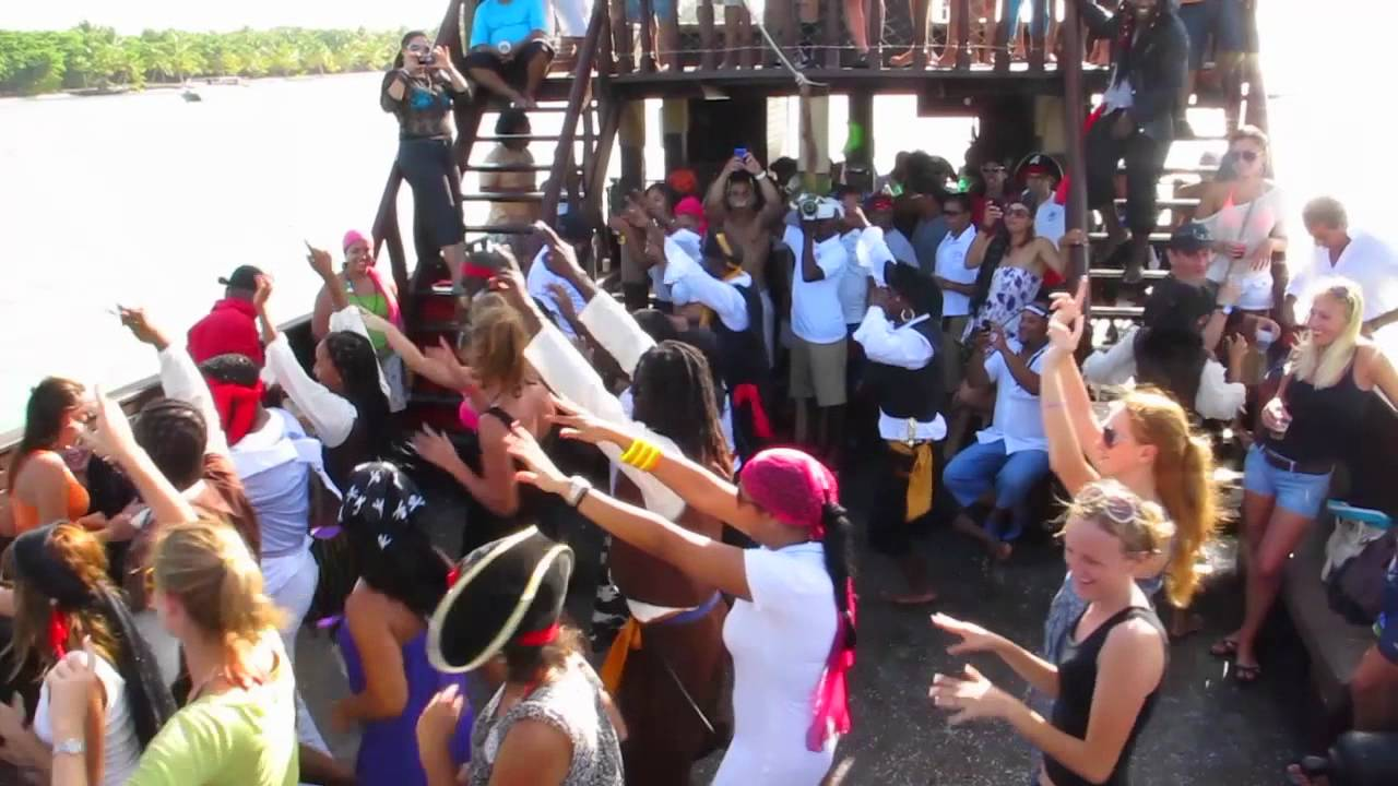 Pirate Party Boat Dominican Rep YouTube - Pirate ship booze cruise
