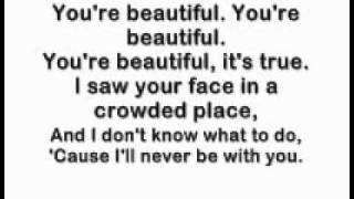 You're Beautiful - James Blunt (Lyrics ;))