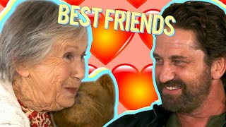 Hilarious British Granny Becomes Best Friends with Gerard Butler