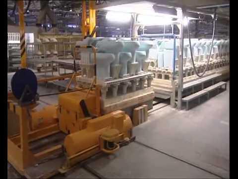 Proceso automatizado de fabricacion de for Aparatos sanitarios