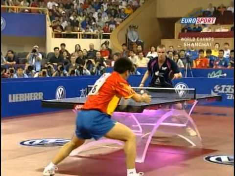 Table Tennis 48 Wttc Shanghai Quarter Michael Maze Den Vs Hao Shuai Chn Tischtennis Tenis De Mesa Dv