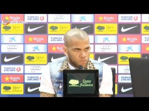 PSG vs Barcelona - Dani Alves press conference
