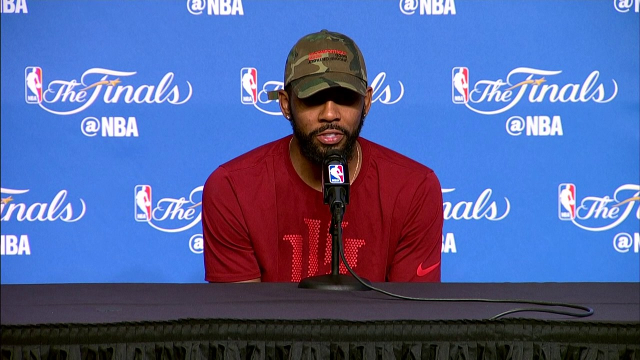 Kyrie Irving FULL Interview Before Game 4   Media Day Availability - YouTube