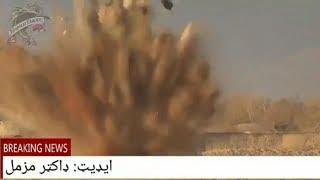 Война. Афганистан.  Военная колонна США поражена СВУ Талибов.