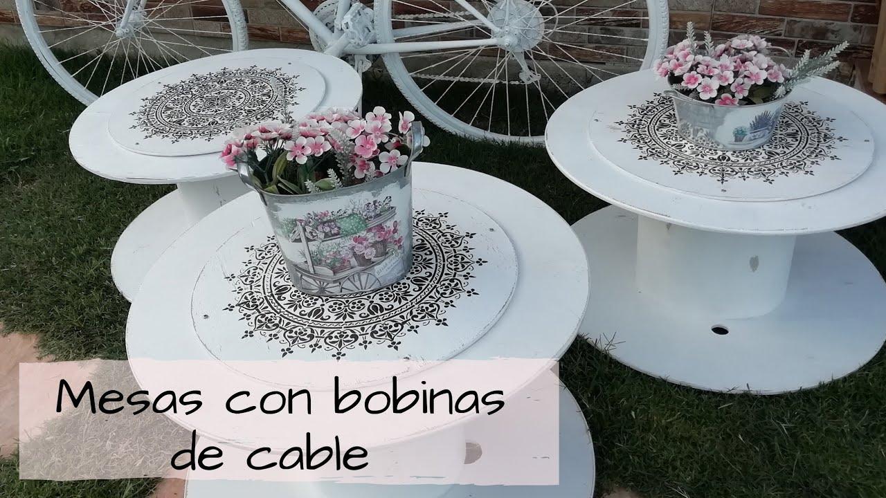 Mesas Mandalas Con Bobinas De Cable Youtube