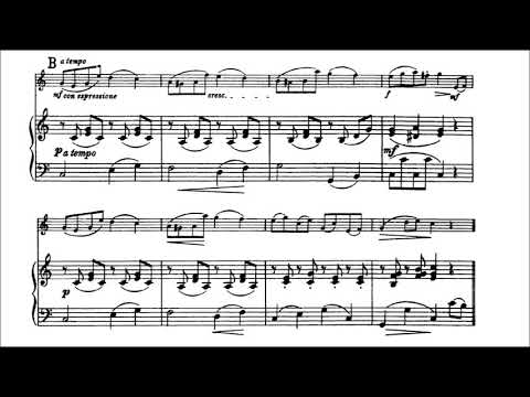 Huber, Adolf Leichtes Concertino for violin+piano Op  36