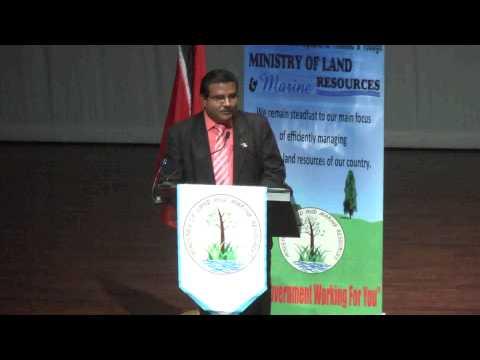 Min. of Land & Marine Resources Distribute Certificate of Comfort - Trinidad & Tobago