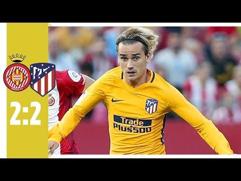 FC Girona - Atletico Madrid 2:2 / Platzverweis für Griezmann-Schwalbe