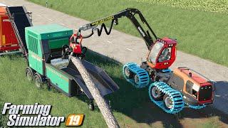 Produkcja wiór drzewnych - Farming Simulator 19 | #99