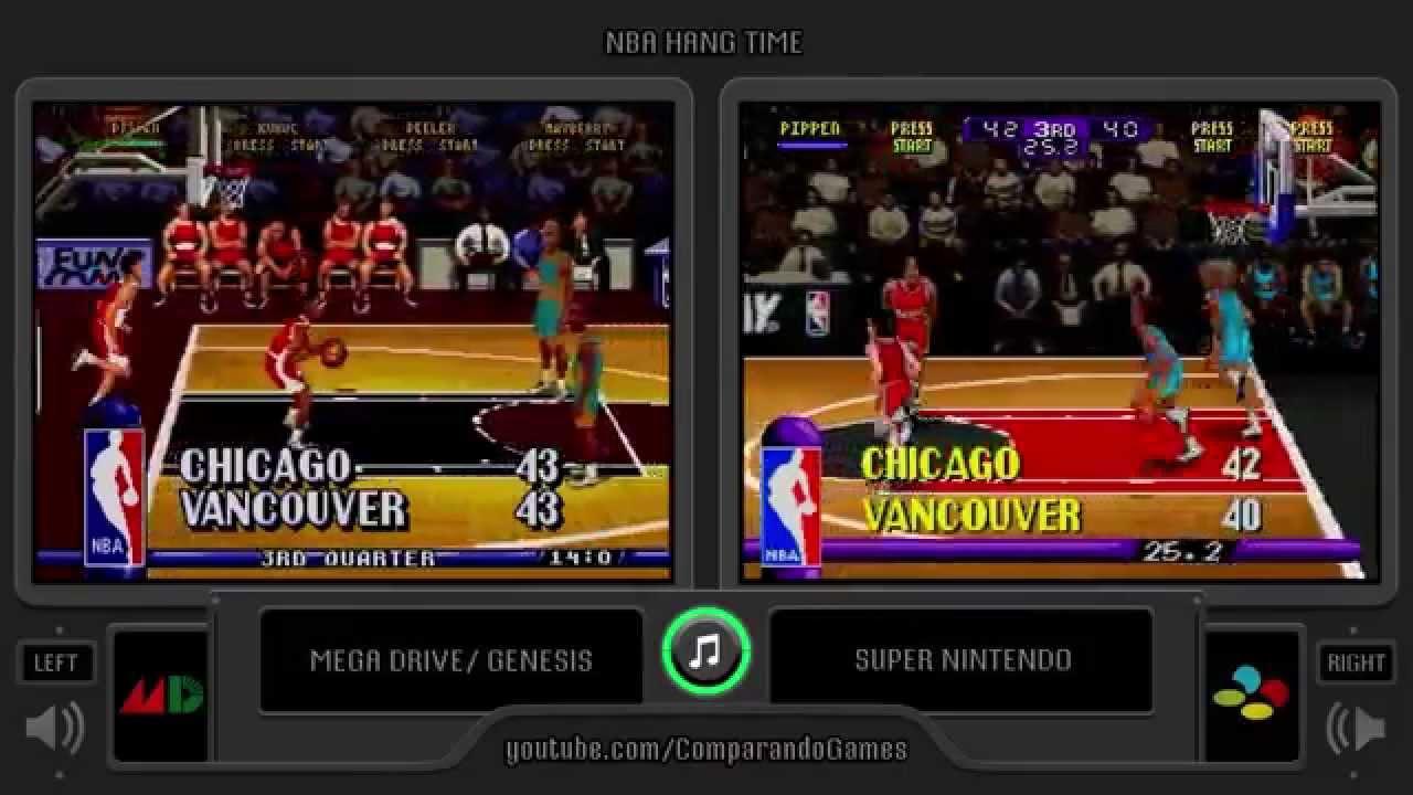 Nba Hangtime Sega Genesis Vs Snes Side By Side