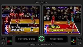 NBA Hangtime (Sega Genesis vs Snes) Side by Side Comparison