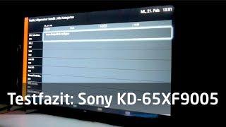 Testfazit: Sony KD-65XF9005