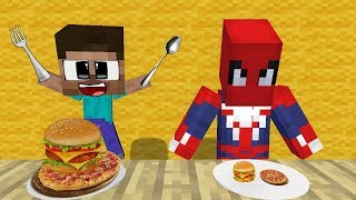Monster School: Cooking In The Restaurant - Minecraft Animation