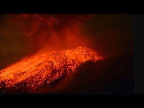 Indonesian volcano erupts; Mount Kelud in eastern Java.
