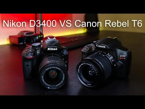 Nikon D3400 VS Canon Rebel T6
