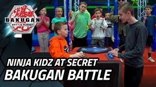 Ninja Kidz Visit A Secret Bakugan Battle Championship!!!