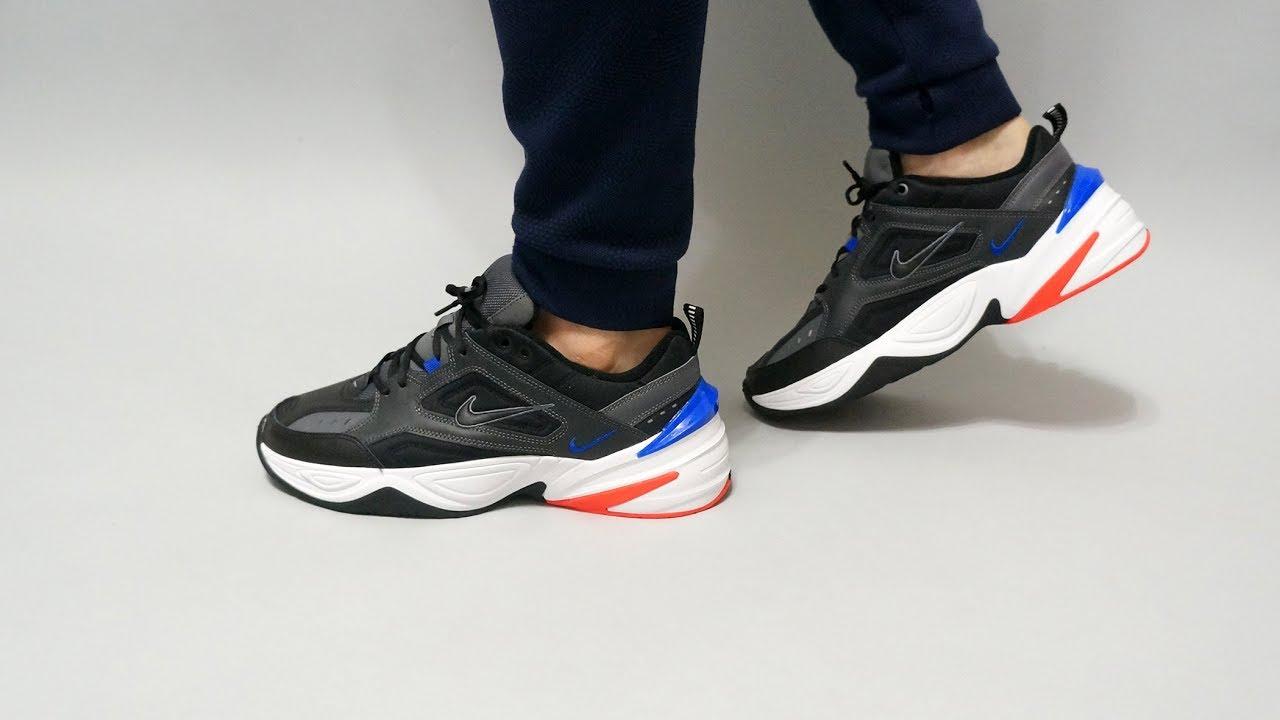 Especialmente Arrestar La risa  Nike M2K Tekno on feet (Dark Grey / Black - Baroque Brown) - YouTube