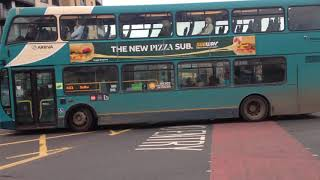 Arriva Yorkshire leaving Leeds city bus station