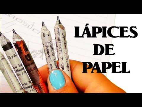 Como Hacer Lápices De Papelcuriocity