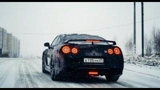 Nissan GT-R на шипах против зимы. Anton Avtoman.