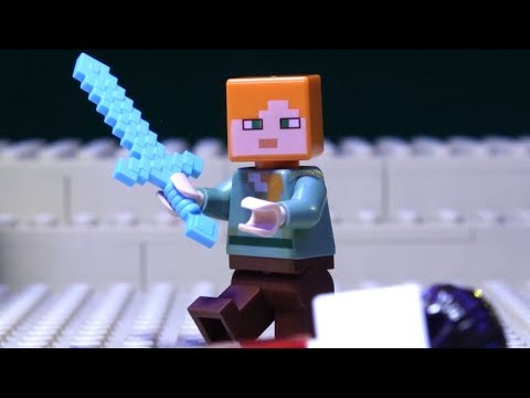 LEGO Minecraft The End Battle Stop Motion Animation Movies 2019 - LEGO Set Brickfilms Compilation!