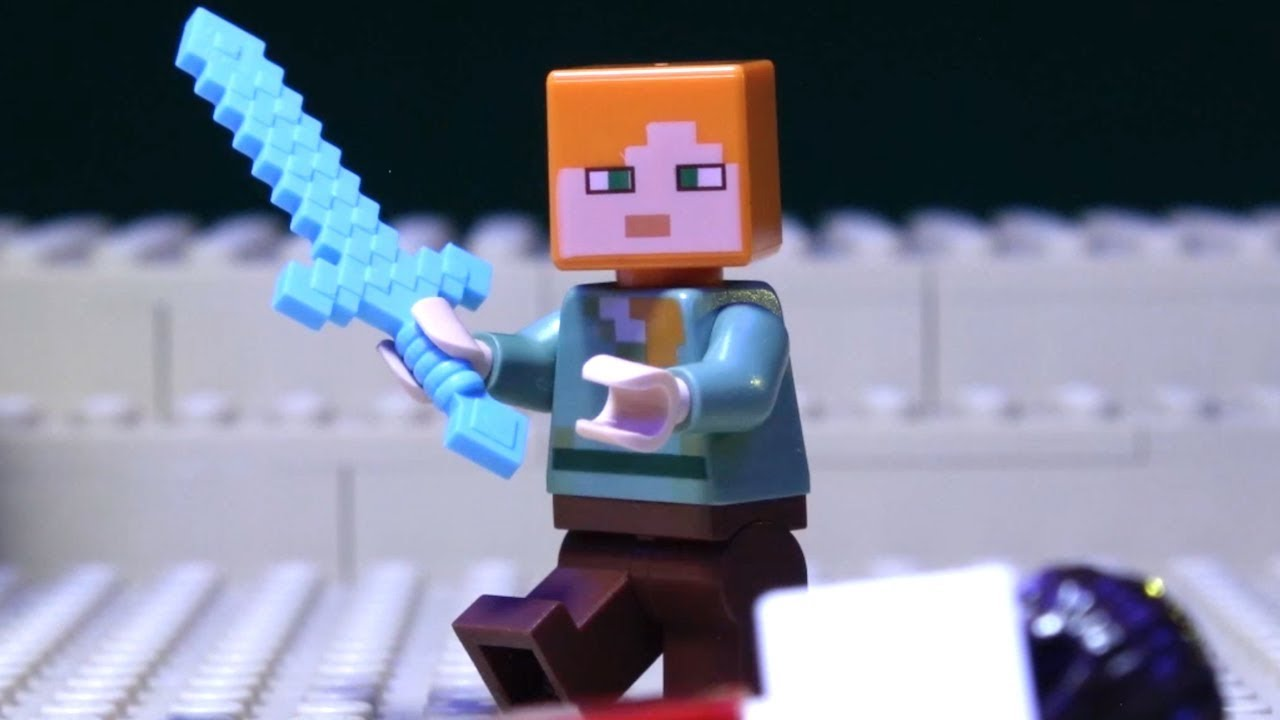 Lego Minecraft The End Battle Stop Motion Animation Movies 2019 Lego Set Brickfilms Compilation Youtube
