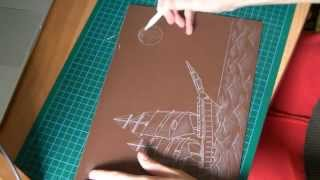 Sail Away Linocut (making Of)