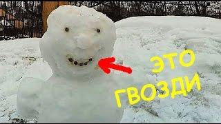 Весенние сугробы || Суровый снеговик || Обрезка яблонь || Жизнь в деревне