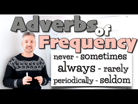 Lesson on Adverbs of FREQUENCY (never, sometimes, always, rarely, periodically, seldom, etc.)