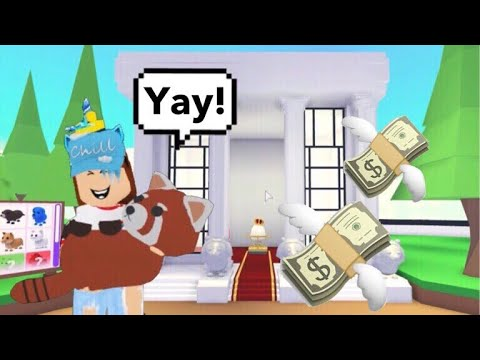 I SPENT ALL MY MONEY BUYING PETS (Roblox Adopt me) Royal egg, pet furniture    Its SugarCoffee