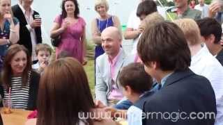 Wedding Magician, Damian Surr, entertain's Sophie and Ernie's guests - Gingermagic