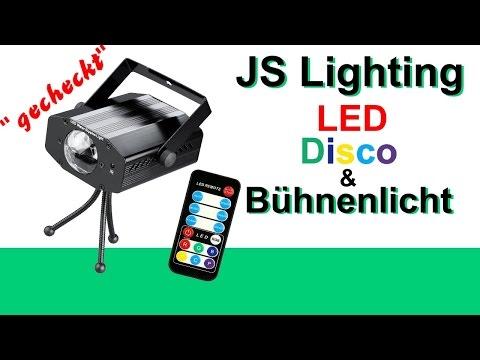 """""""gecheckt?!"""" JS Lightning LED Disco und Bühnenlicht Review LED RGB Disco Light Deutsch"""