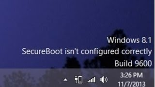 Windows 8.1 Secure Boot Watermark Easy Fix from Microsoft