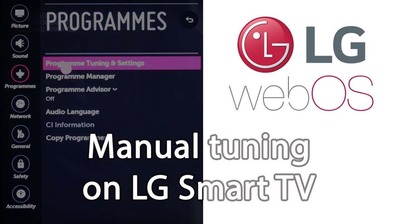 Manual Tuning On Lg Smart Tv Youtube