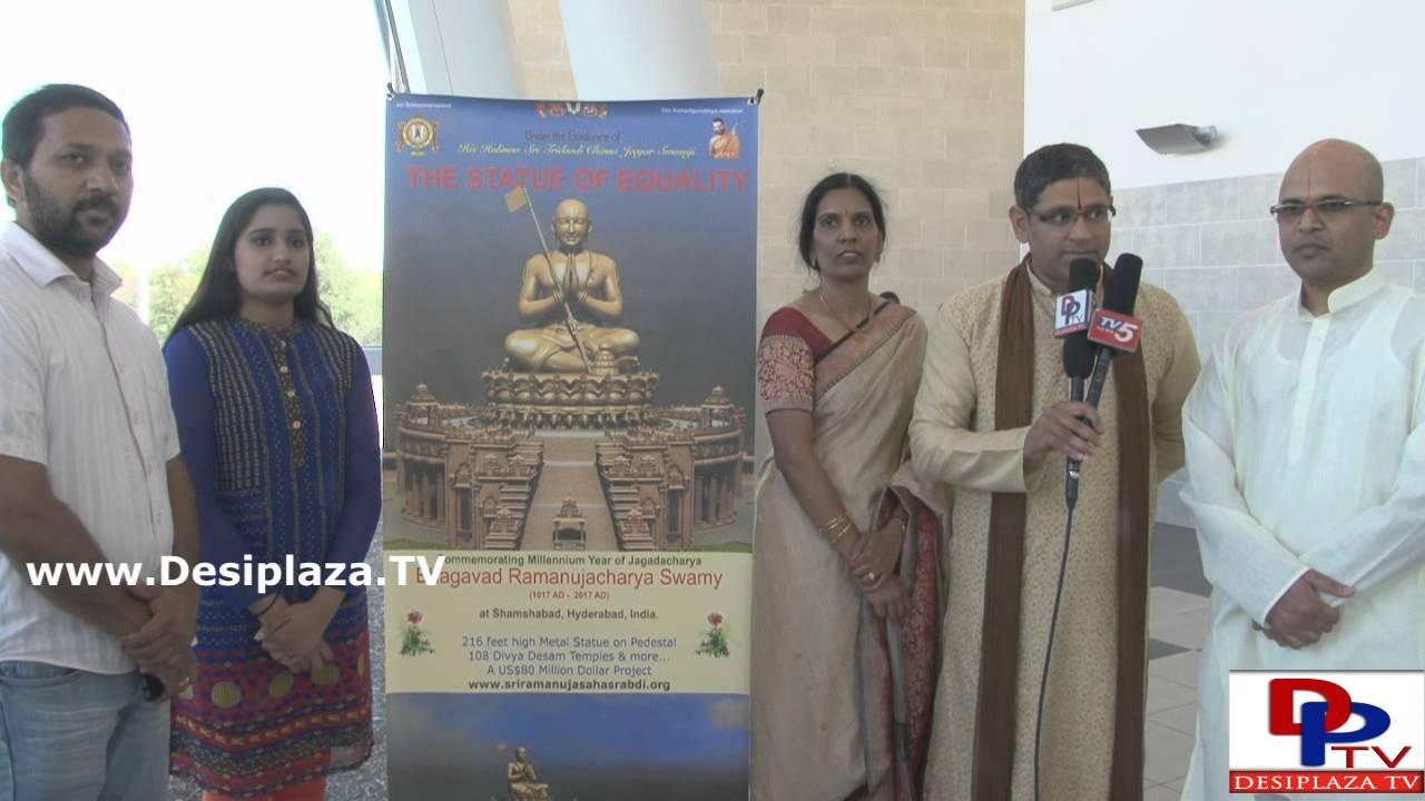 Mr.Mohan from JET organization speaking to Desiplaza TV at Sri Srinivasa Dolotsavam