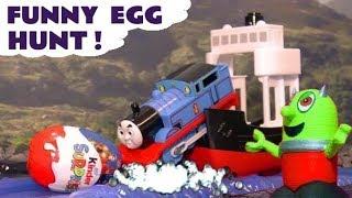 Thomas & Friends Big World Big Adventures funny Kinder Surprise Egg Hunt with funny Funlings TT4U