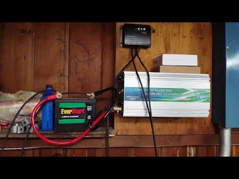 Renogy Solar Panel Test Set up Off Grid