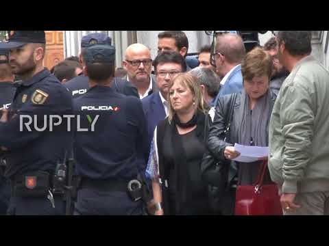 Spain: Catalan Parliament Speaker Carme Forcadell arrives at Supreme Court for questioning