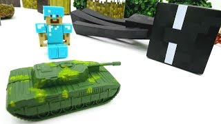 Игры в майнкрафт - Юра и Стив обороняют алмазную руду