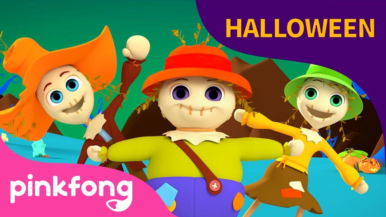 Tres Espantapájaros   Canciones de Halloween   Pinkfong Canciones Infantiles