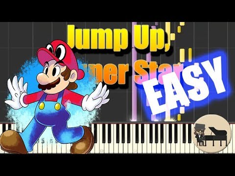 🎵 EASY Jump Up, Super Star - Super Mario Odyssey [Piano Tutorial] (Synthesia) HD Cover