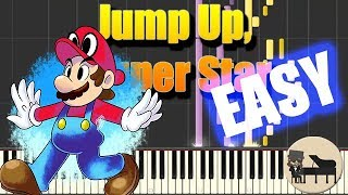 EASY Jump Up, Super Star - Super Mario Odyssey [Piano Tutorial] (Synthesia) HD Cover