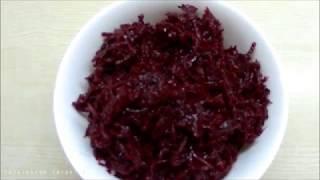 Салат из Свеклы по - Корейски.  Вкусный рецепт !