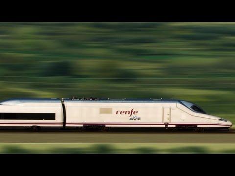 Ave train, high speed rail in Spain, HD